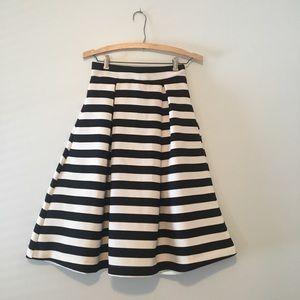 Haute Monde Striped Skirt